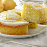 Food Photography lemon drizzle cake
