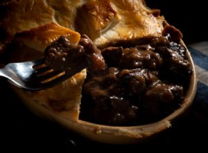 Food photography. Meat pie