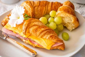 Food photography croissant