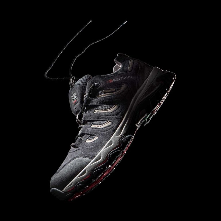 product shot photography of trainer running shoe