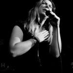 black and White photograph of singer Gemma Dorsett