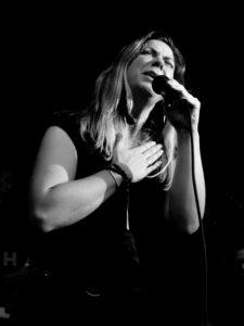 black and White Photograph. Singer Gemma Dorsett