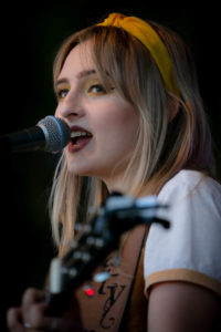Photograph. Singer song-writer Katy Hurt